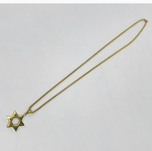 Star Of David Gold Plated Necklace 12 Inch Chain